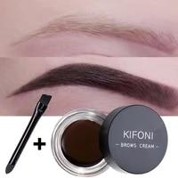 5 colors waterproof eyebrow cream long lasting enhancer eyebrow shadow dye gel cosmetic makeup brown black brow tint with brush