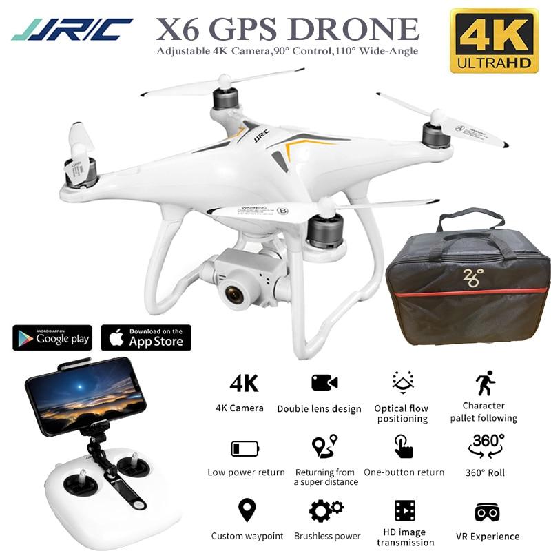 X6 profesional Drone Gps 4K Cámara ajustable sin escobillas Rc Quadcopter 5G Me sigue WiFi Fpv Selfie cámara de helicóptero quadrotor Drone