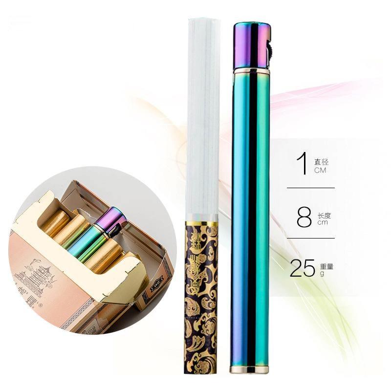Creative Mini Compact jet butane lighter metal cigarette inflatable gas portable lighter cigarette accessories men's gadget enlarge