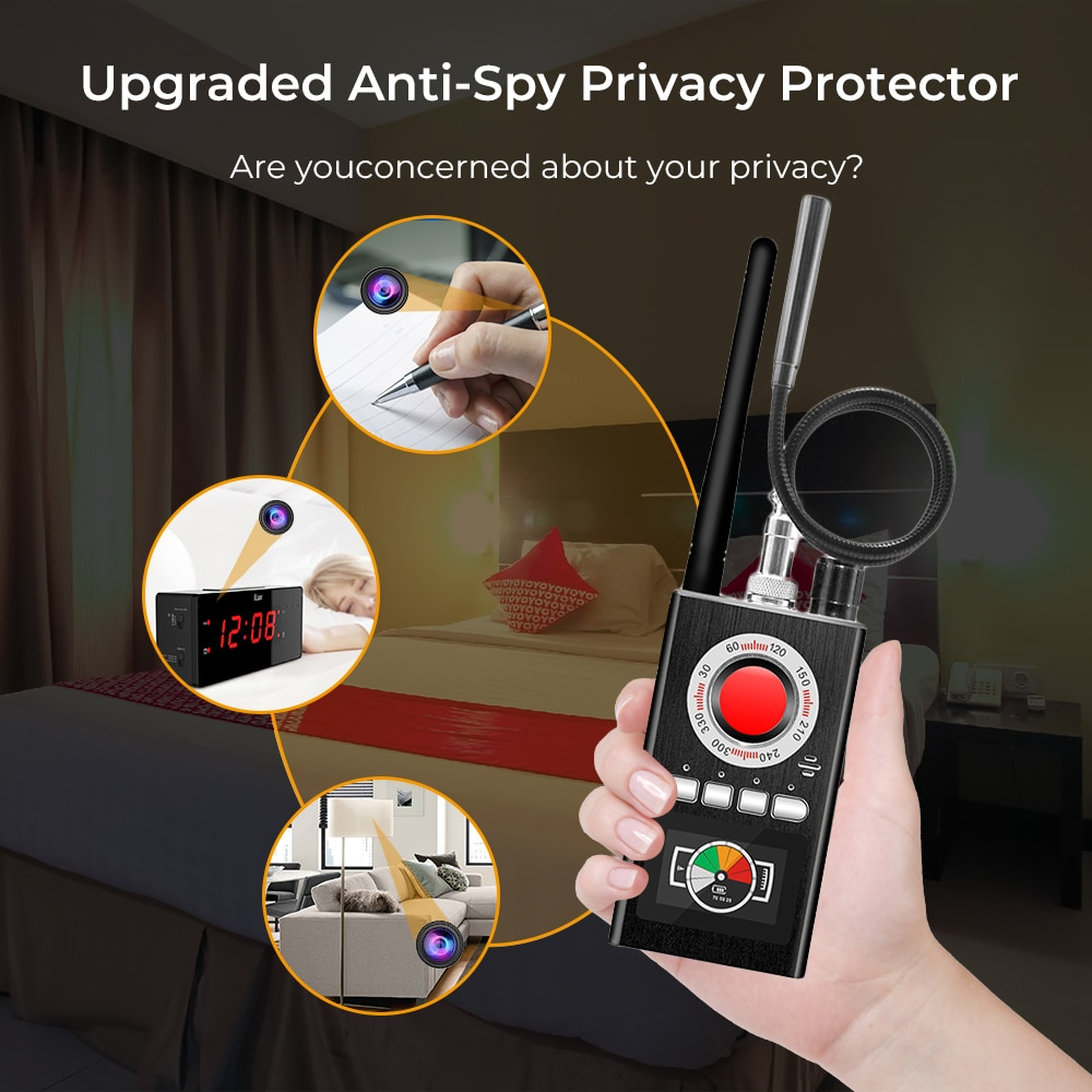 Anti Candid Camera Detector RF Signal Scanner Audio GSM Bug Finder Jammer Audio Signal Blocker enlarge