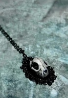 cat skull necklace wiccan witch witchy goth pagan occult jewelry gift