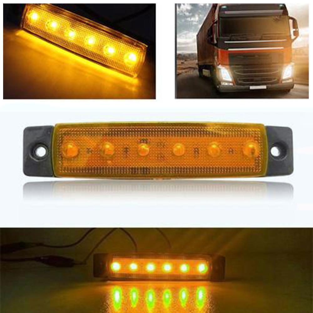 6 LED light 12V 24V biały czerwony pomarańczowy ciężarówka przyczepa Pickup Side obrysówka kierunkowskaz lampy karawana ciągnik Kart