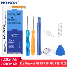 NOHON pour batterie Huawei P8 P9 P10 P8Lite P9Lite P10 Lite batterie de remplacement HB3447A9EBW HB366481ECW Batteries Lithium polymère