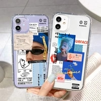for iphone 11 case iphone 12 pro max 11pro mini xs xr 7 8 6 s plus se 2020 art lable barcode cover iphone11 clear silicone funda