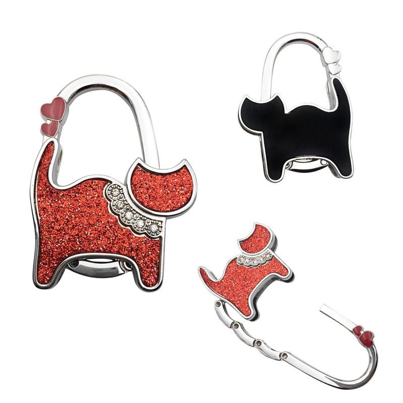 Sevimli moda fil katlanabilir kanca karikatür hayvan dekorasyon el çanta kancası tutucu taşınabilir katlanır Metal masa yan çanta kancası