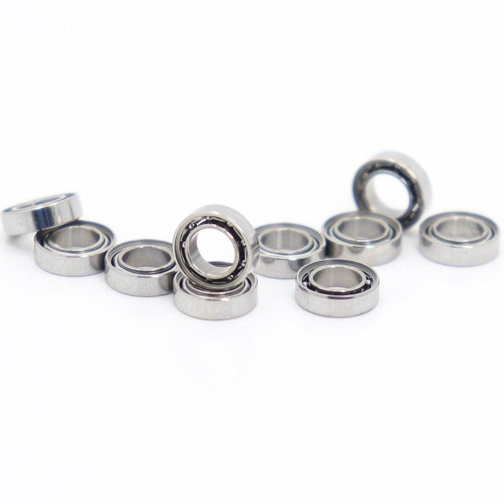 Rodamiento abierto SMR74Z, 4x7x2mm, 10 Uds., rodamientos de bolas de acero inoxidable...