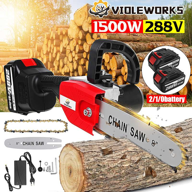 288VF 22980mAh منشار كهربائي بدون فرشاة 8 بوصة اللاسلكي حديقة تسجيل أداة السلطة أدوات الخشب قابلة للشحن لبطارية ماكيتا