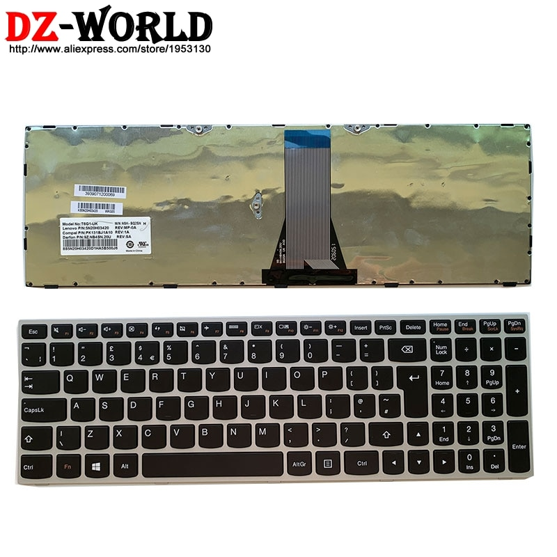 ¡Nuevo! Teclado de ordenador portátil inglés UK para Lenovo Ideapad 300-15 ISK 300-17ISK 500-15ACZ ISK series 5N20H03420