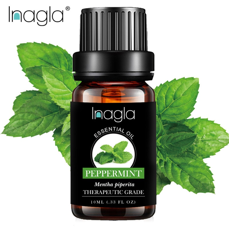 Inagla Peppermint Essential Oil Pure Natural 10ML Pure Essential Oils Aromatherapy Diffusers Oil Rel