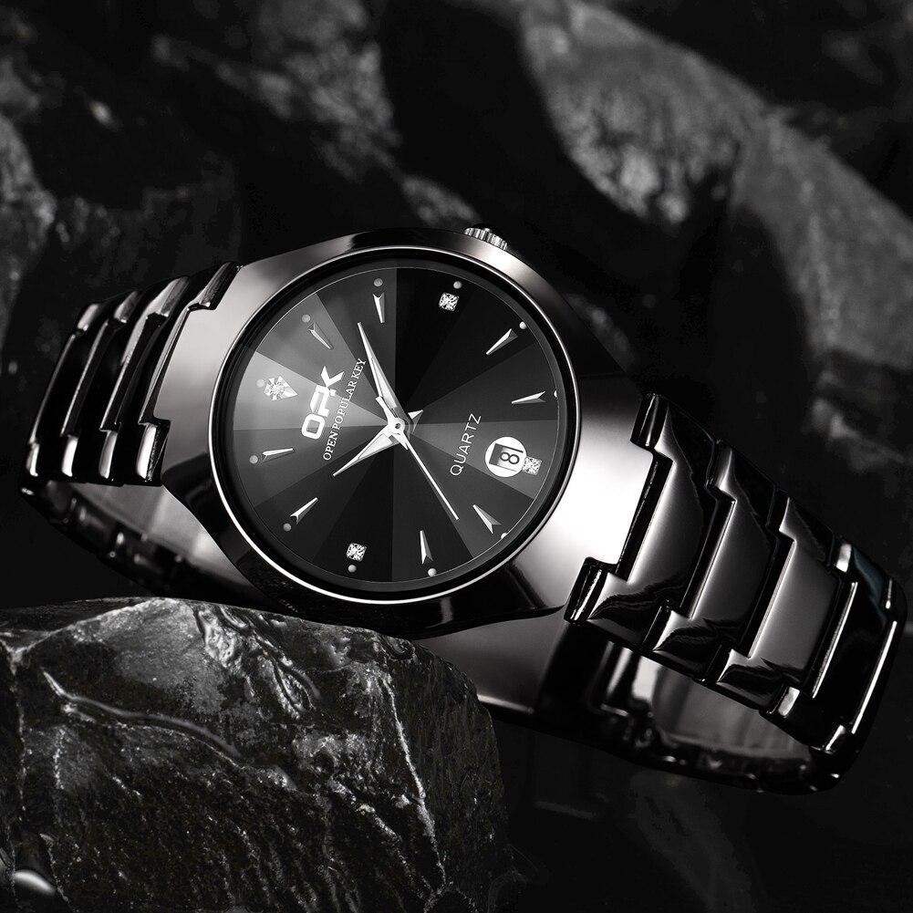 OPK Men's Top Brand Luxury Quartz Watch 30m Waterproof Fashion Business Watch Luminous Calendar Stee