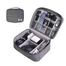 Sacs de rangement numériques portables   Organisateur de Gadgets USB, câbles, fils, chargeur, batterie, fermeture éclair, sac à cosmétiques, étui daccessoires