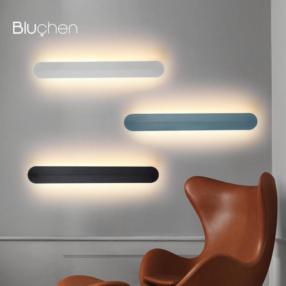 ferro moderno lampada de parede led nordic arandela preto branco azul luminaria de