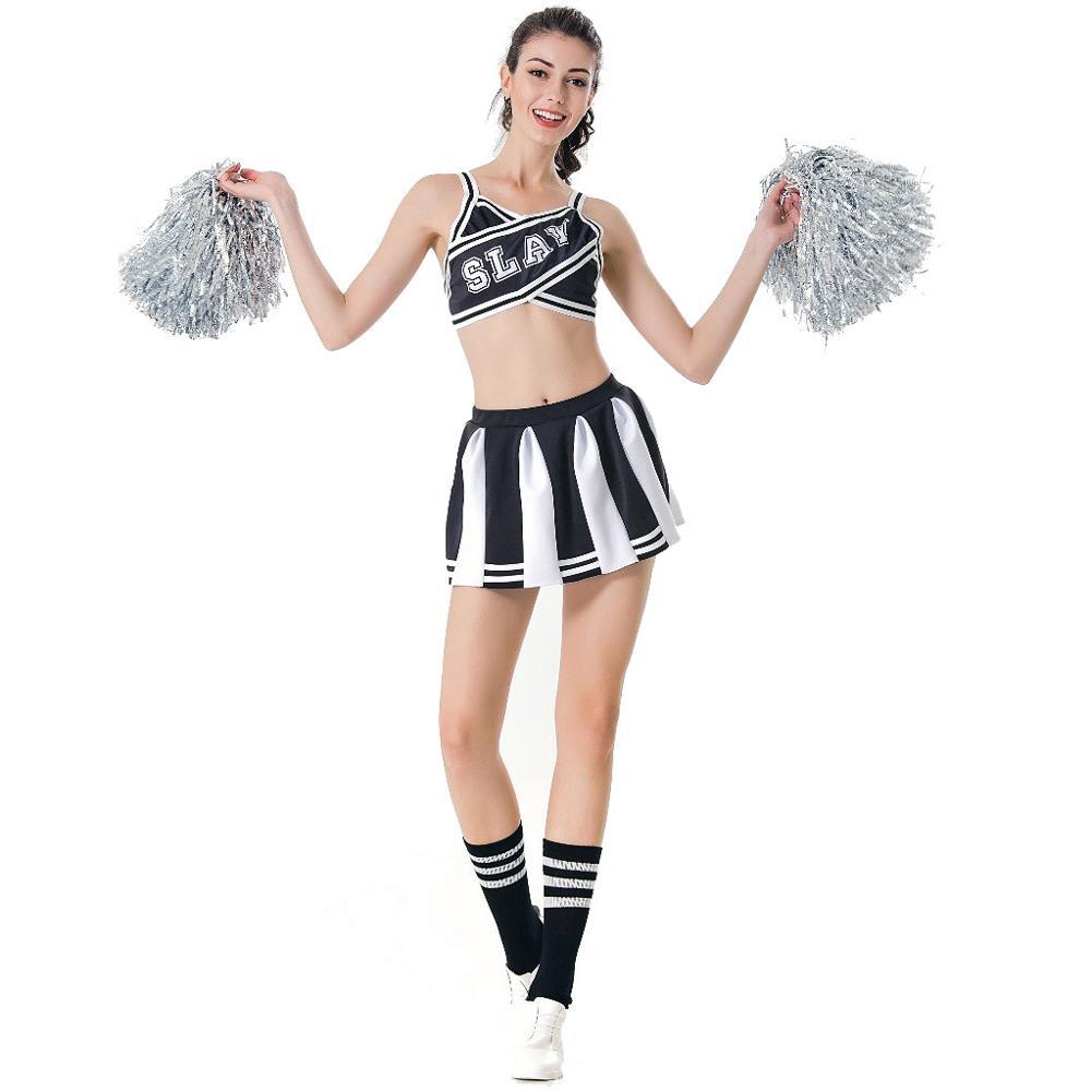 Women Sexy Japanese School Cheerleader Stage GleeinPerformance Dress Cheerleading Costumes Adult Cheer Uniform Football baby