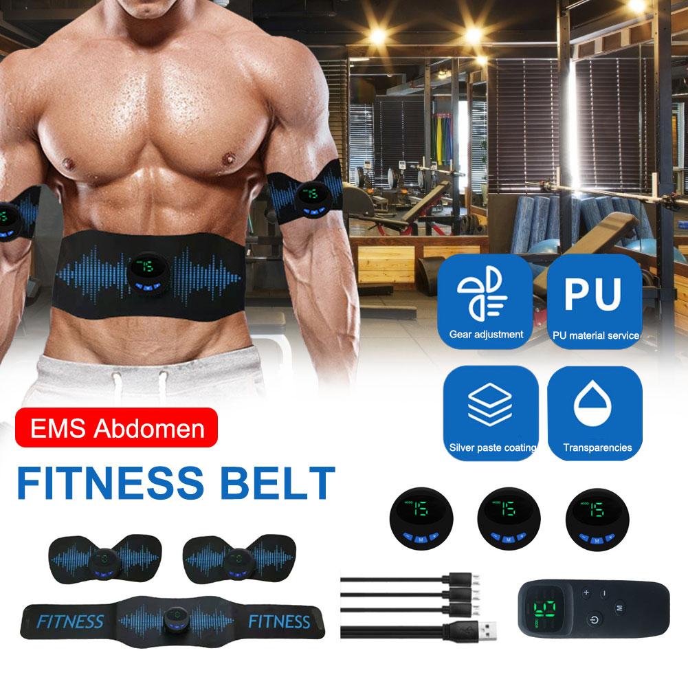 Abdominal Toning Belt USB Muscle Toner EMS Electric Massage for Men Women Training Device
