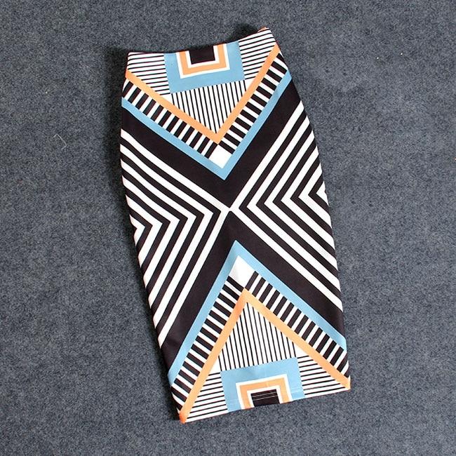 Женская Повседневная юбка-карандаш с цветочным принтом, эластичные юбки размера плюс, 22 цвета, Faldas Mujer