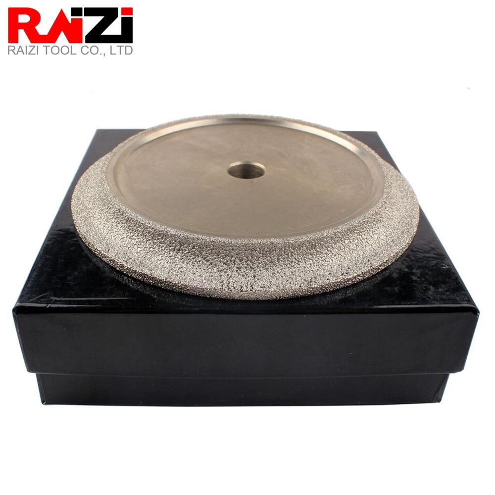Rueda de perfil de diamante Raizi de 6 pulgadas/150mm para piedra de granito mármol perfil de borde semiredondeado herramientas de molienda de diamante soldado al vacío