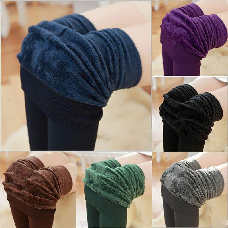 Nuevas medias de invierno sólidas ajustadas medias pantimedias gruesas medias de Moda de Primavera para mujer