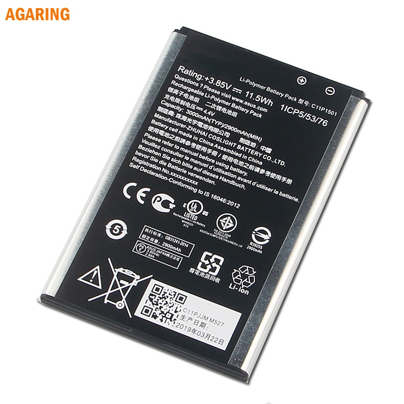 Replacement Phone Battery C11P1501 For Asus ZenFone2 Laser selfie ZE550KL ZE601KL Z00LD Z011D ZD551KL Z011D D551KL Z00UD 3000mAh enlarge