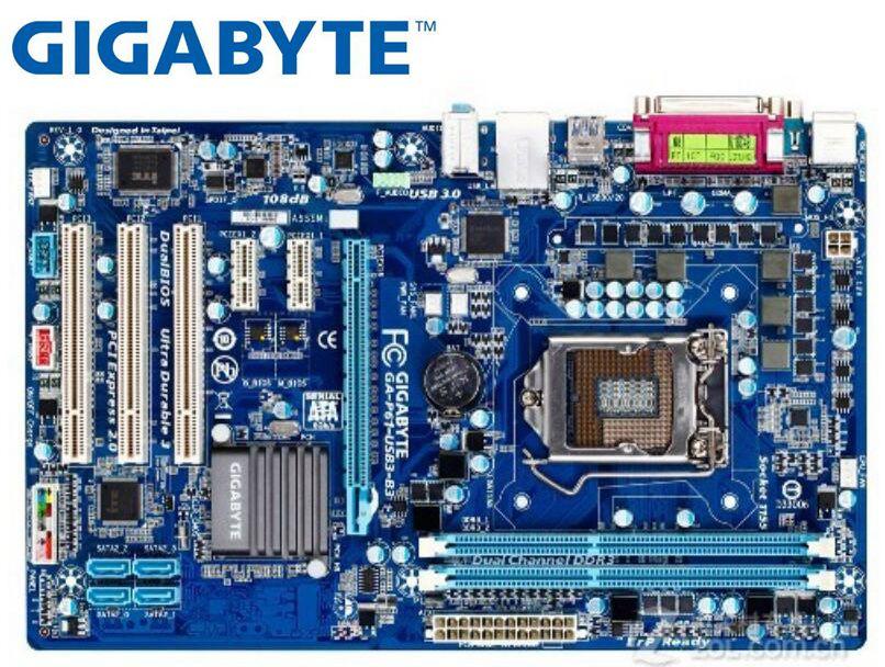 Gigabyte-placa base de ordenador de escritorio, GA-P61-USB3-B3 de segunda mano para intel...