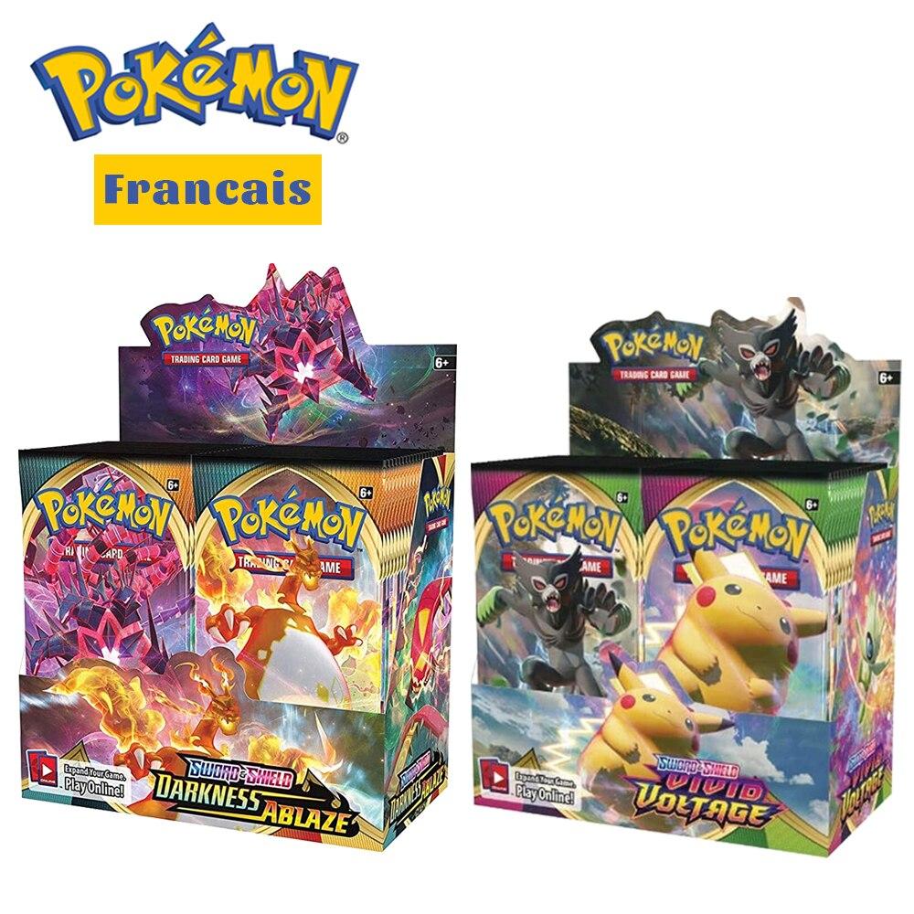 360Pcs French Version Pokemon Cards Box TCG: Sun & Moon Evolutions Booster Shinny Card Pokemon Game