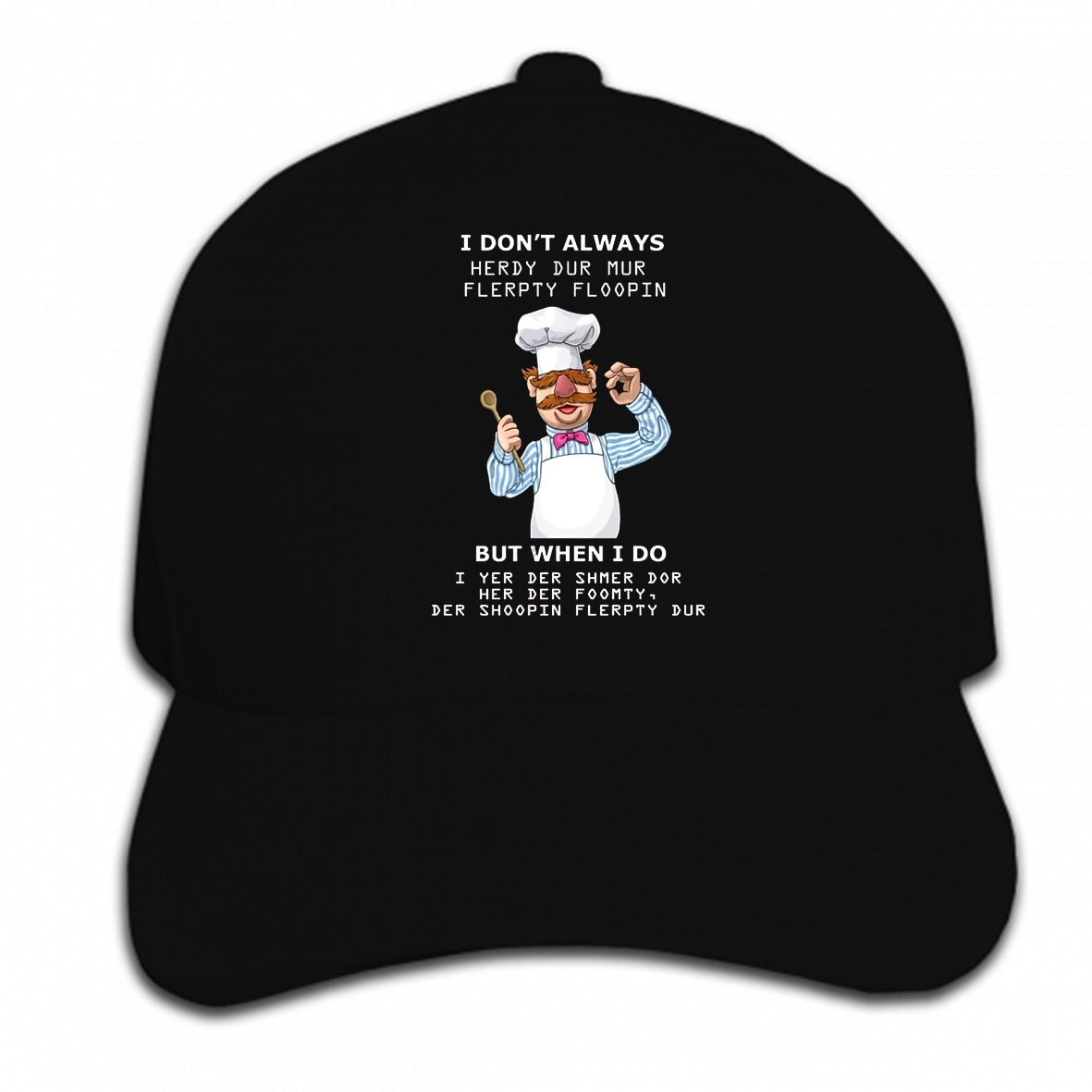 Gorra de béisbol personalizada estampada para hombre, divertida gorra de béisbol con frase de Chef sueco para mujer