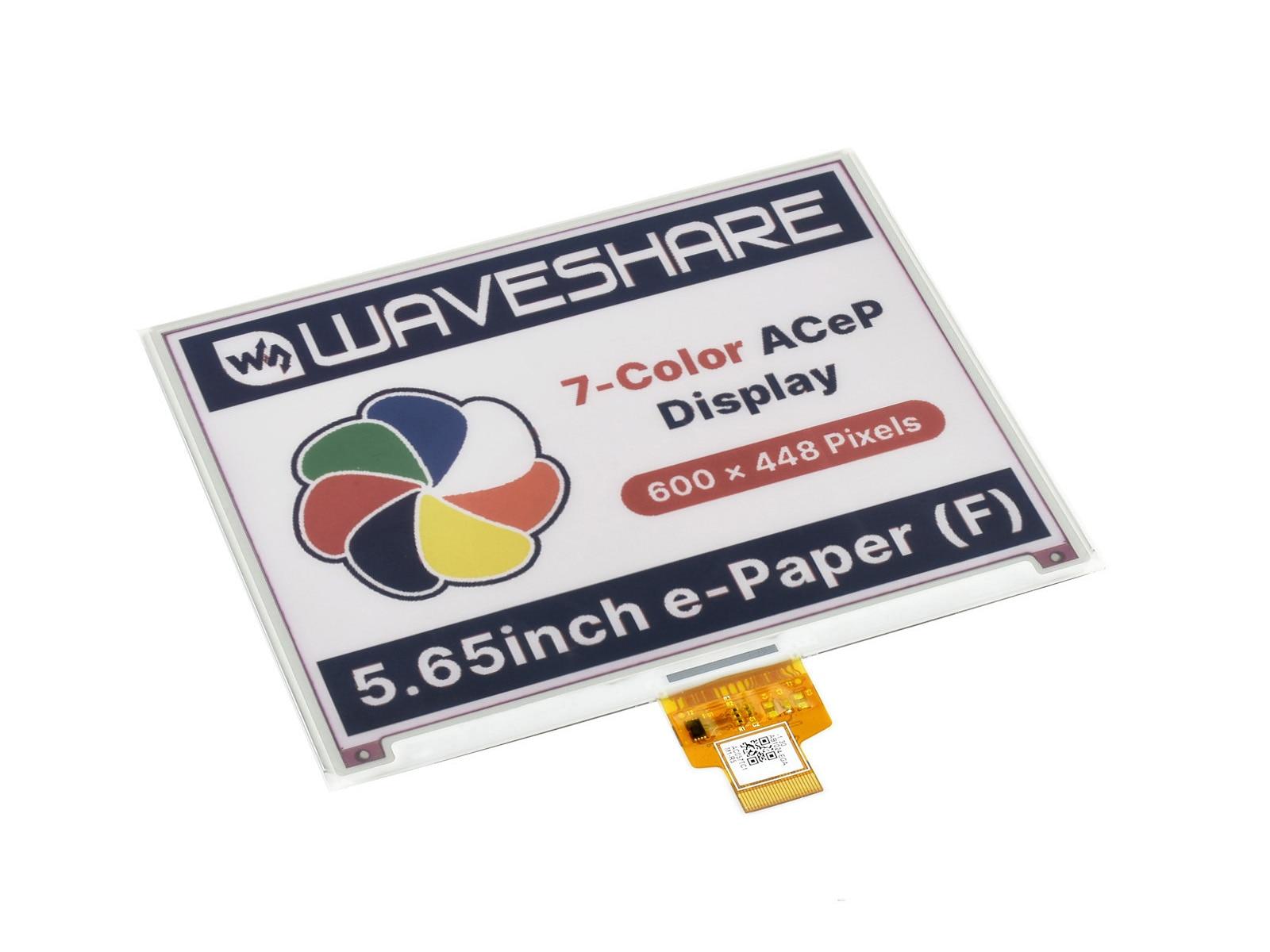 wavesare tela e ink bruto de papel eletronico 565 polegadas 600x448 pixels acep 7 cores sem pcb