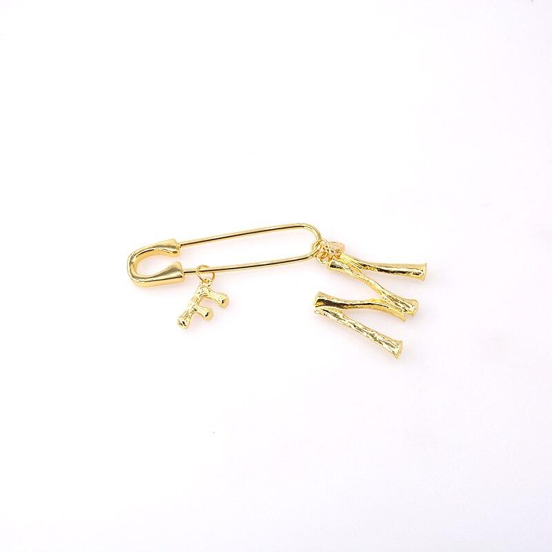 Broches con letras elegantes para mujer, broches con letras, Joyería Moderna, pinza para chal