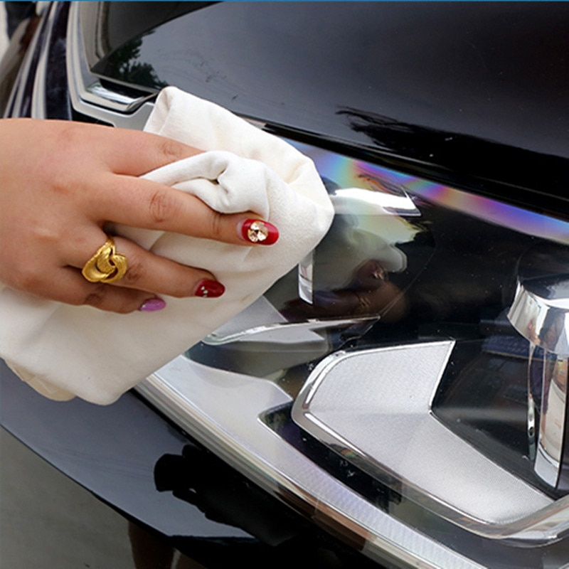 Hot Sale Natural Chamois Leather Car Cleaning Cloth Genuine Leather Wash Suede Absorbent Quick Dry Towel Streak Lint enlarge