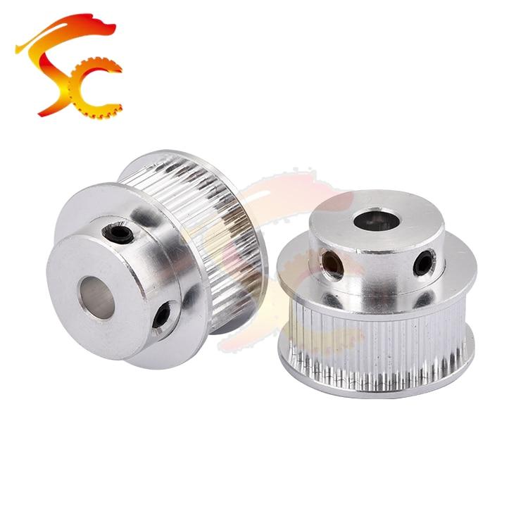 1PCS/LOT Alumium GT2 Timing Pulley GT2 40 teeth Bore 5/6.35/8/10/14mm for belt width 9mm or 10mm GT2 Open Belt 2GT pulley