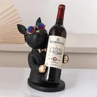 home decoration accessoryfigurine miniaturefrench bulldog sculpturewine racktable decormodernliving roomdecorative statue