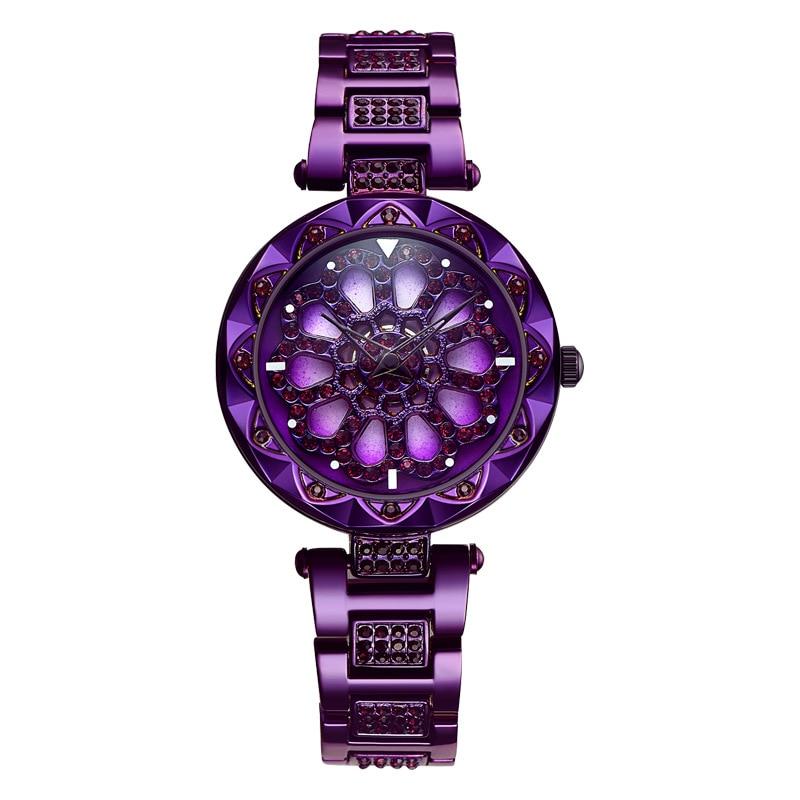 360 grados de rotación Dial de las mujeres de la moda relojes de mujer de cuarzo impermeable reloj de pulsera para regalo de 2020 nuevos de lujo de cristal creativa reloj