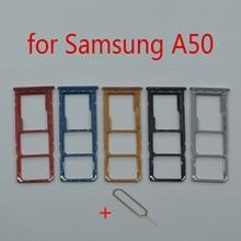 SIM Card Tray Holder For Samsung Galaxy A50 A505F A505FM A505FN Original Phone New Micro SD Card Slot Adapter Repair Parts