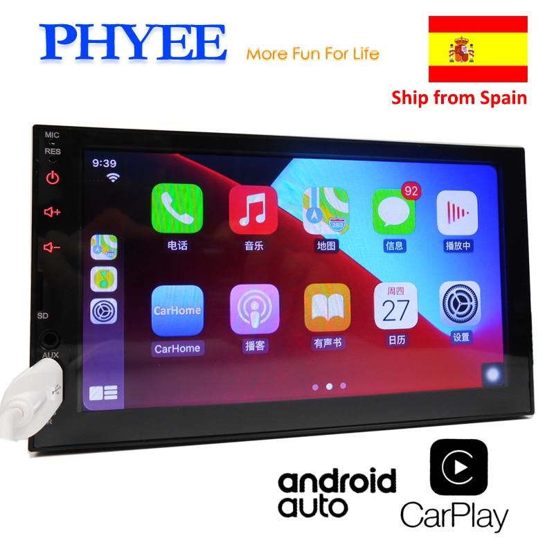 2 Din Apple Carplay Car Radio Bluetooth Android Auto Stereo Receiver 7