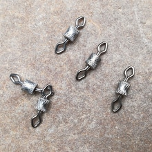 1000 قطعة/الوحدة النحاس الأسود يدور موصل الكرة تحمل المفاجئة الصلبة خواتم المتداول إغراء أدوات الصيد معالجة اكسسوارات Pesca