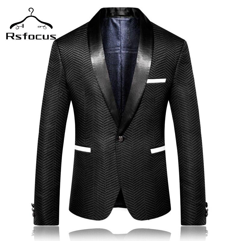 Rsfocus 2020 New Arrival Men's Wedding Blazers Autumn British Style Blazer Suit Jacket Prom Stage Bl