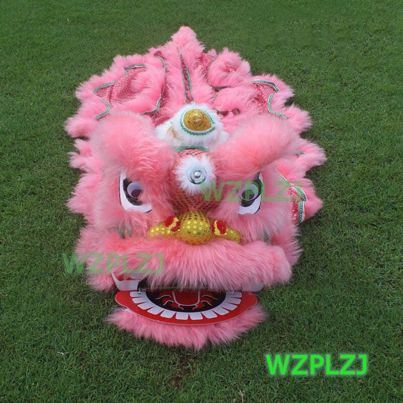 Pink 14 inch Lion Dance Costume  Royal Suit  5-12 Age kid Children Cartoon Party Sport Outdoor Festival Parade Stage Mascot