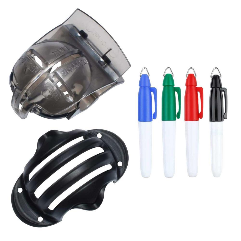 Outil de marquage de ligne de balle de Golf, 6 pièces, Kit d'outils d'alignement, marqueur de balle de Golf, stylo d'alignement, outil de mise en ligne, dessin de marqueur de ligne