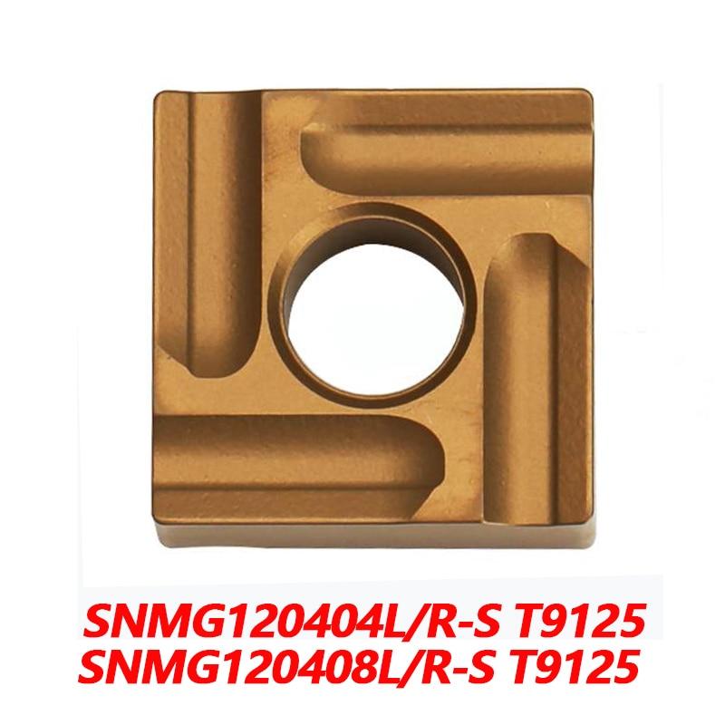 100% SNMG SNMG120404L S T9125 SNMG120404R 120408 باستخدام الحاسب الآلي كربيد إدراج شفرات المستوردة من اليابان عالية الجودة والكفاءة العالية