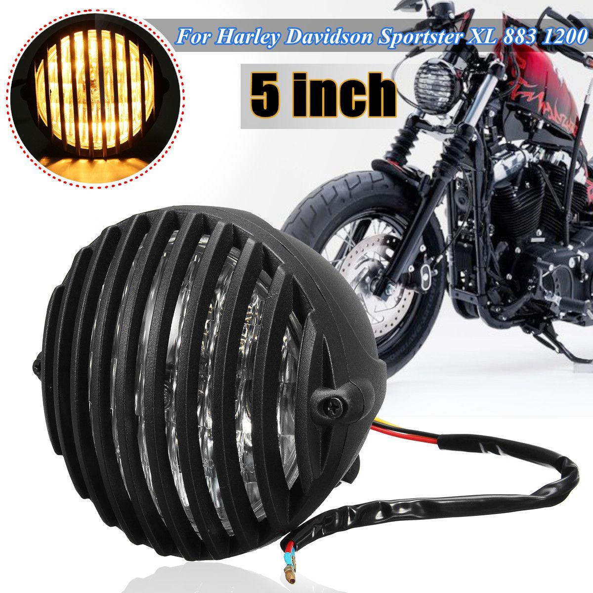 شواية مصباح أمامي للدراجات النارية ، غطاء 5 بوصات ، 12 فولت ، لـ Harley Davidson XL 883 1200 2004-2014