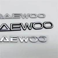 for daewoo emblem rear trunk tailgate logo letters badge nameplate symbol decal