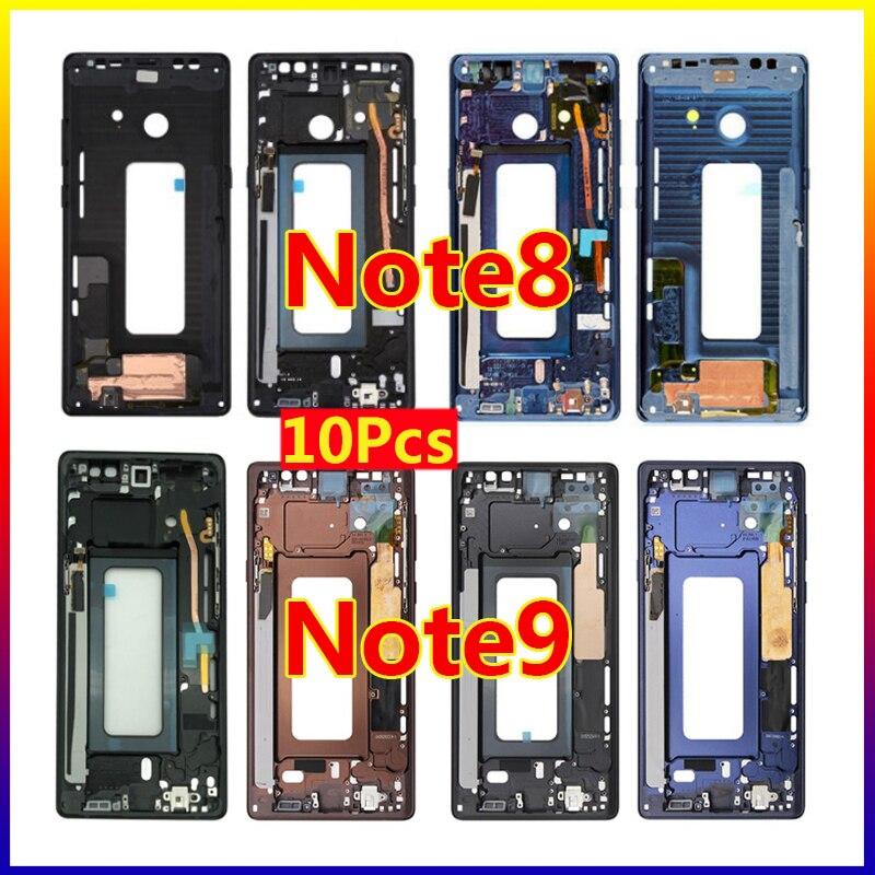 10 Uds./para Samsung Galaxy Note 8 N950 Note8 Note 9 N960 carcasa de Metal con bisel de Marco medio con botones laterales de volumen de potencia