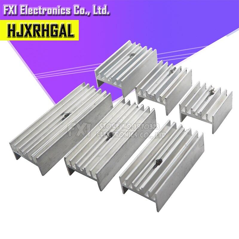 10 pces 15*10*16/20/22/25/30/35/40/50 radiador de alumínio do dissipador de calor do transistor com hjxrhgal para transistores a-220 to220 branco
