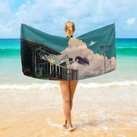 super beautiful cartoon quick drying soft bath towel water sports shawl swimming surfing beach towel leisure shade blanket