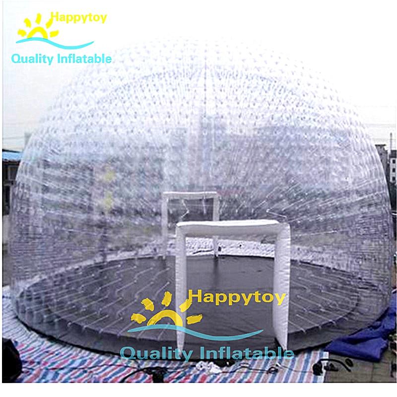 Tienda iglú inflable impermeable para acampar al aire libre