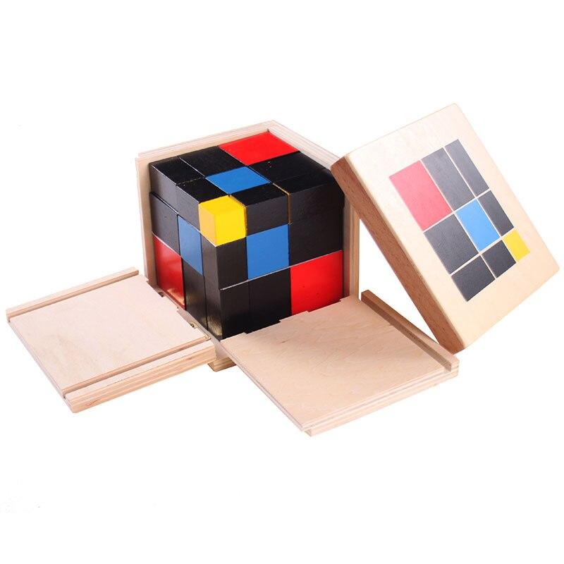 Монтессори математические материалы Монтессори, триномиальный куб, развивающие игрушки для детей дошкольного возраста, игрушки MG1964H