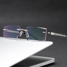 ZIROSAT 58129 Square Rimless Optical Glasses Frame Men Myopia Prescription Eye Glasses Frames For Me