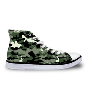 HaoYun Women's High-Top Canvas Shoes Ladies Breathable Vulcanized Shoes Camouflage Pattern Female Confortable Walking Flat Shoes