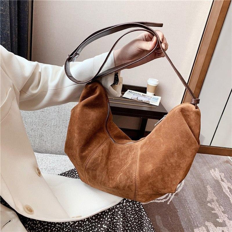 High Quality Scrub Leather Crossbody Bags for Women 2021 New Fashion Trendy Ladies Shoulder Bags Brand Designer Handbags Purses