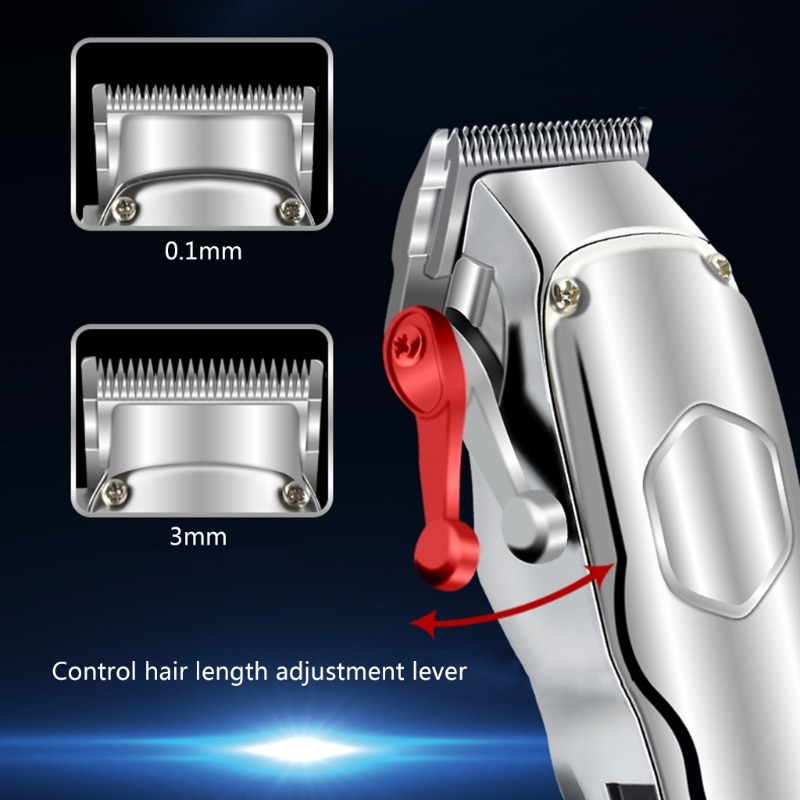 Profession Electric Hair Clippers Beard Trimmer Barber Grooming Cordless Shaver X7YB enlarge