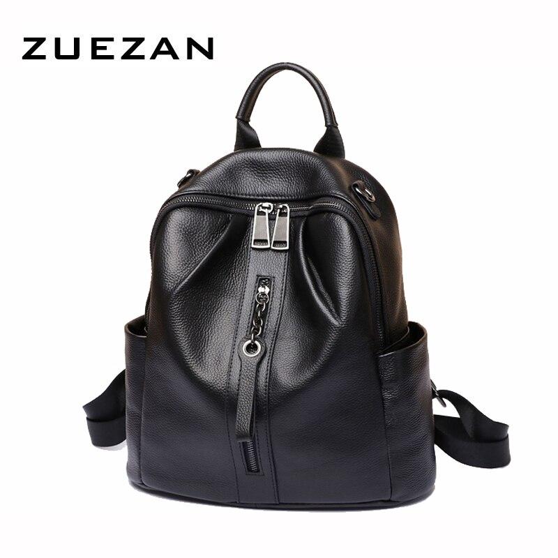 Shoulder Pack Bags, Women Genuine Leather Backpack , Female 100% Natural Cowhide School Bag , Girl Cross-body Bag  A483
